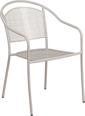 Gray Round Back Patio Chair
