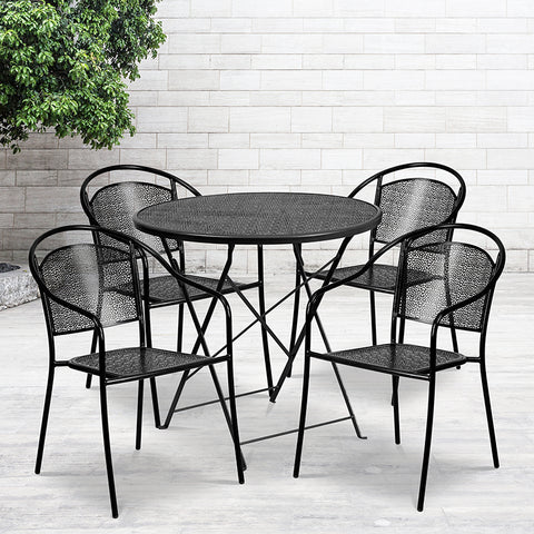 30rd Black Fold Patio Set