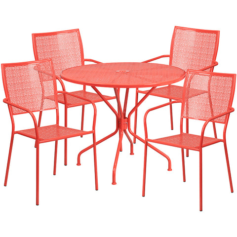 35.25rd Coral Patio Table Set