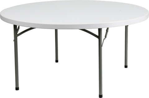 60rd White Plastic Fold Table