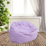 Lavender Dot Bean Bag Chair
