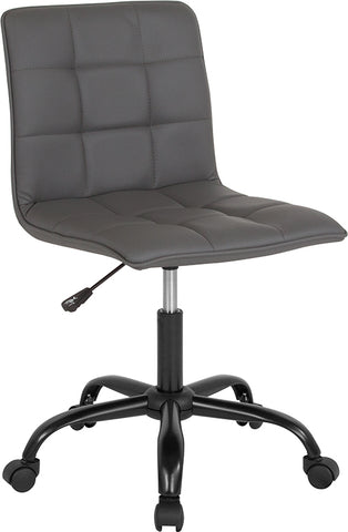 Gray Leather Task Chair