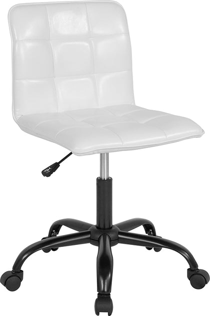 White Leather Task Chair