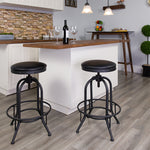 "30""h Black Swivel Lift Stool"