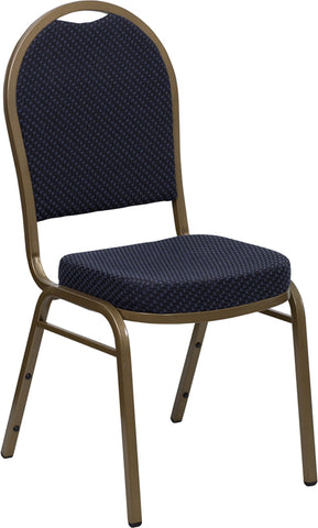 Navy Fabric Banquet Chair