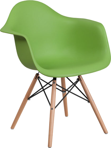 Green Plastic-wood Chair