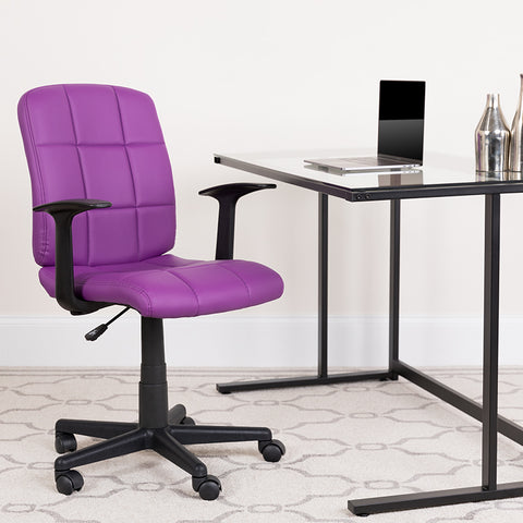 Purple Mid-back Task Chair