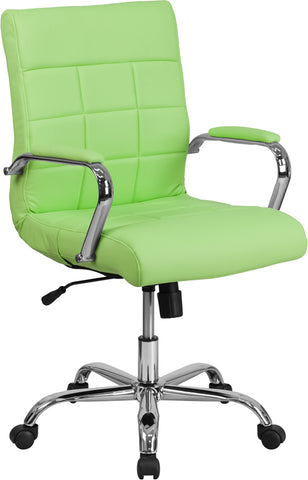 Green Mid-back Vinyl Chair