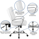 White High Back Leather Chair