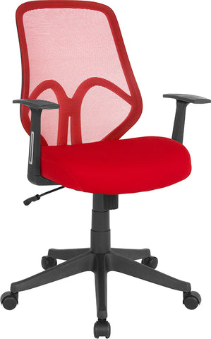 Red High Back Mesh Chair