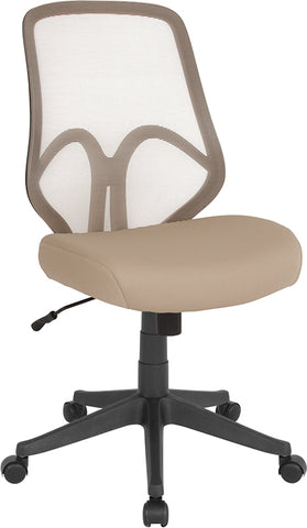 Lt Brown High Back Mesh Chair