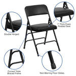 Black Vinyl Folding Chair
