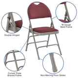 Burgundy Fabric Folding Chair