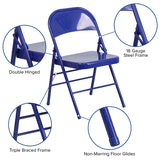 Cobalt Blue Folding Chair