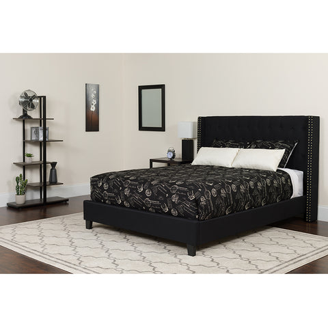 Queen Platform Bed-black