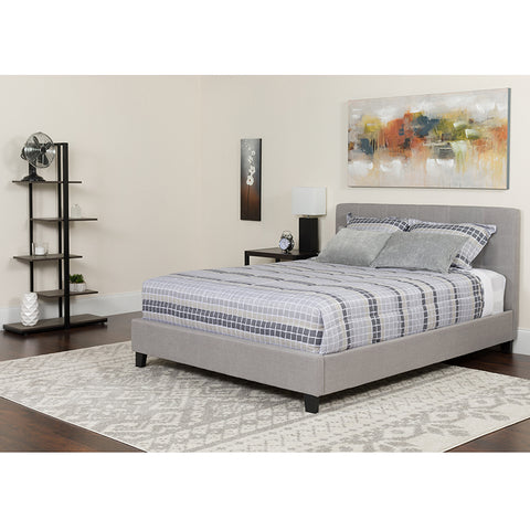 King Platform Bed Set-gray