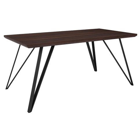 63x31.5 Dark Ash Dining Table