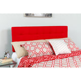 King Headboard-red Fabric
