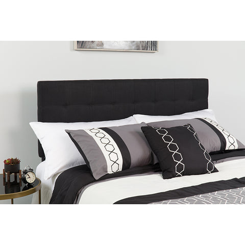 Queen Headboard-black Fabric