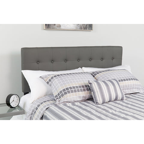 King Headboard-gray Vinyl