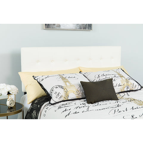 King Headboard-white Vinyl