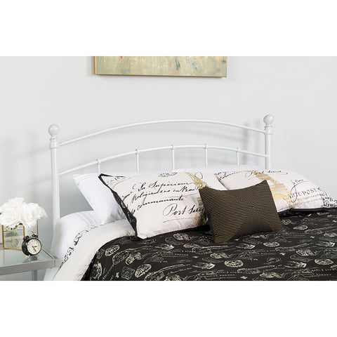 White Metal King Headboard