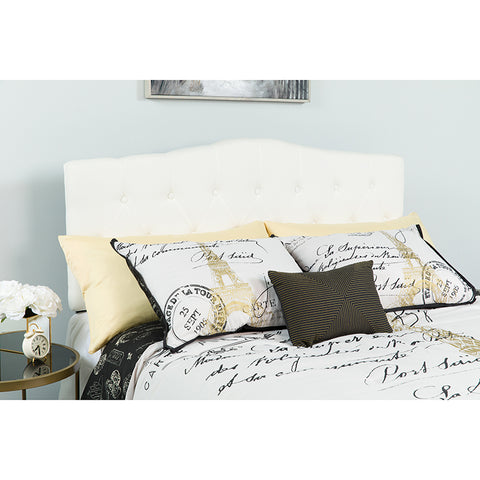 King Headboard-white Fabric