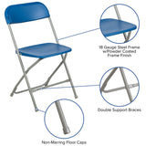 Blue Plastic Folding Chair
