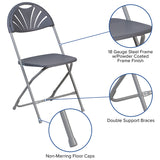 Charcoal Plastic Folding Chair