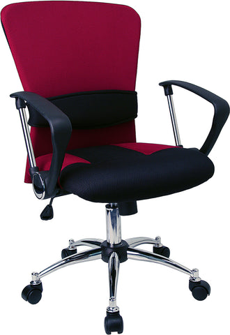 Red Mid-back Task Chair