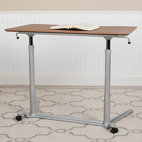 Cherry Sit-stand Computer Desk