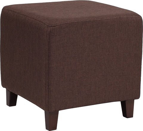Brown Fabric Ottoman Pouf