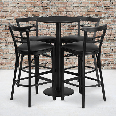 24rd Bk Bar Table-bk Vyl Seat