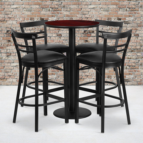 24rd Ma Bar Table-bk Vyl Seat
