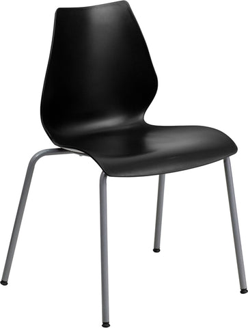 Black Plastic Stack Chair