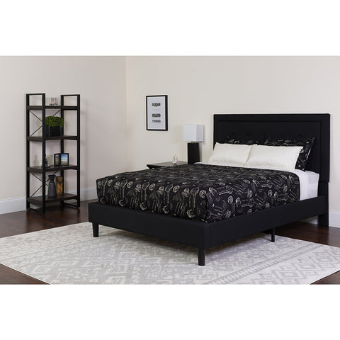King Platform Bed Set-black