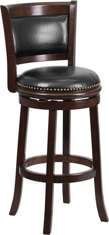 "29"" Cappuccino Wood Stool"