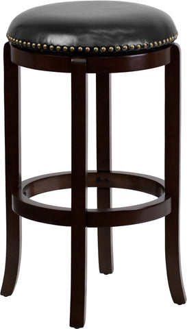 "29"" No Back Cappuccino Stool"