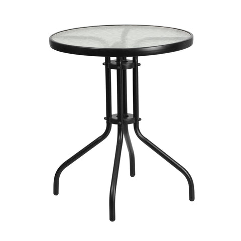23.75rd Black Patio Table