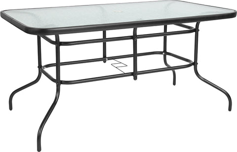 55x31.5 Glass Patio Table