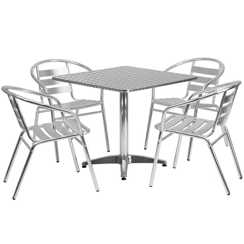 31.5sq Aluminum Table Set