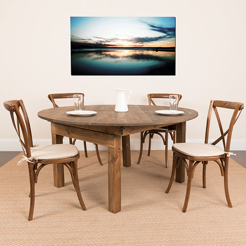 "60"" Rd Farm Dining Table"