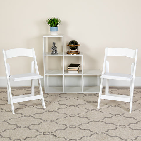 White Wood Folding Chair
