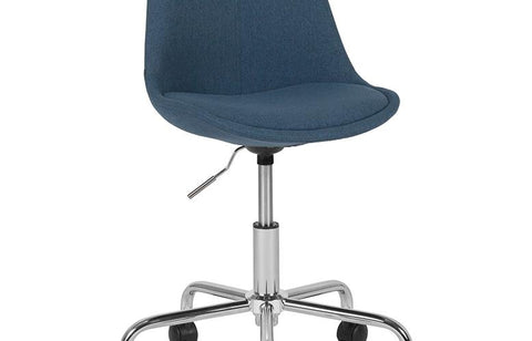 Blue Fabric Task Chair
