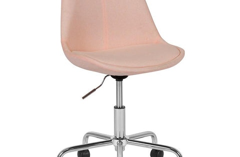 Pink Fabric Task Chair