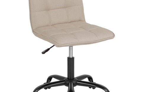 Beige Fabric Task Chair