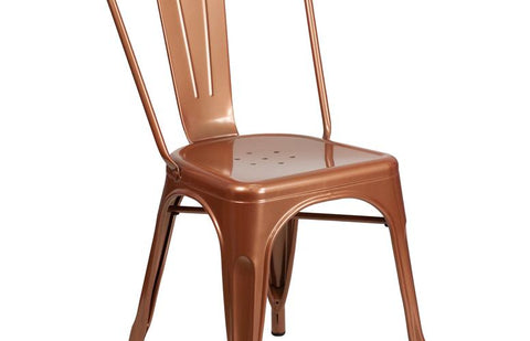 Copper Metal Chair