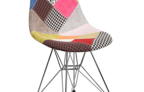 Milan Fabric-chrome Chair