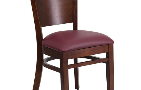 Walnut Wood Chair-burg Vinyl
