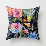 Cosmic Floral Pillow